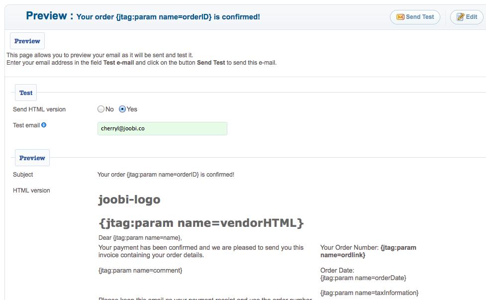 Email and Notification Templates - Joobi