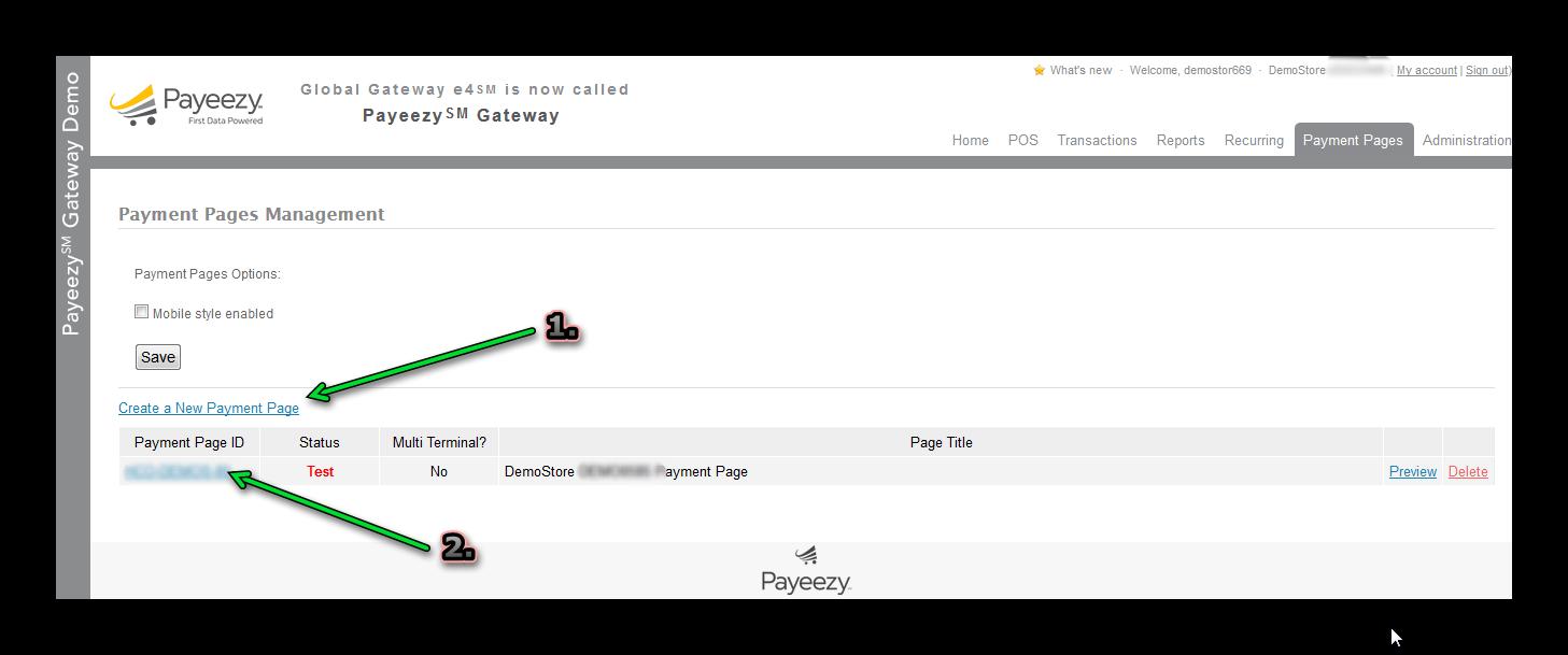 Payeezy First Data Payment - Joobi