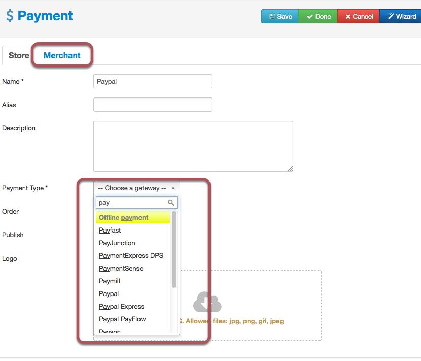 Payment Gateway Setup - Joobi